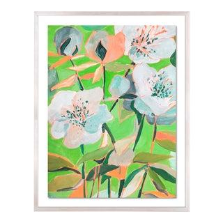 Santorini 2 by Lulu DK in White Wash Framed Paper, Medium Art Print For Sale