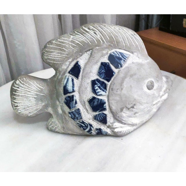 Metal 1990s Cement & Wooden Fish Figurines & Sculptures - Set of 3 For Sale - Image 7 of 8