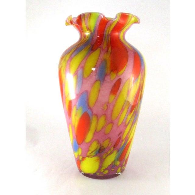 Vintage Hand Blown Multi Colored Glass Vase by Lavorazione ...
