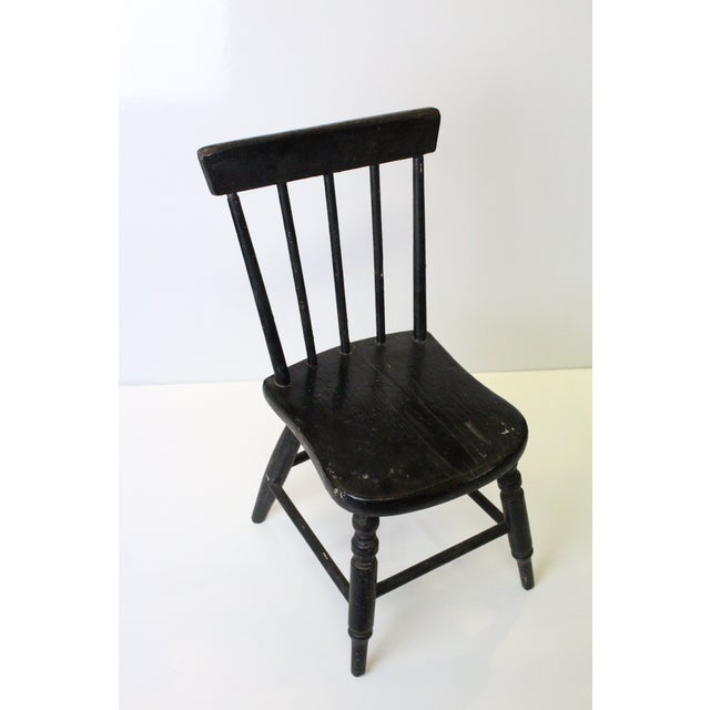 Early 20th Century Early 20th Century Vintage Miniature Children's Windsor Chair For Sale - Image 5 of 5
