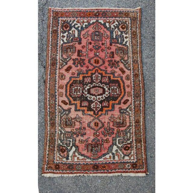 Semi-Antique Persian Kirman Rug - 3′3″ × 6′5″ For Sale - Image 4 of 6