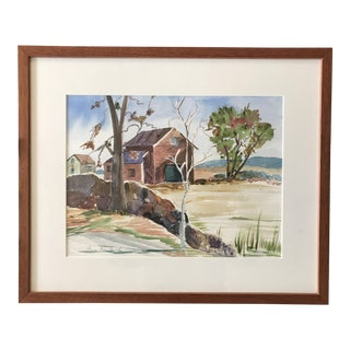 Watercolor Landscape Painting Signed