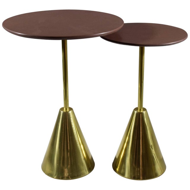 Pair of Stone-R Contemporary Handcrafted Side Tables, Flow Collection For Sale - Image 10 of 10