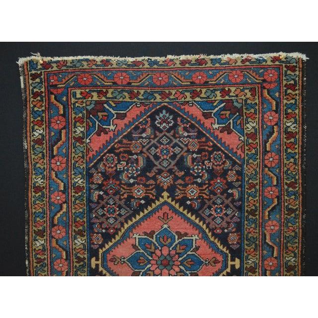 "Vintage Persian Hamadan Rug - 3'4"" x 4'10"" - Image 3 of 6"