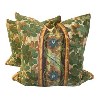 "Clarence House ""Velours Irleande"" 22 "" Pillows - a Pair"