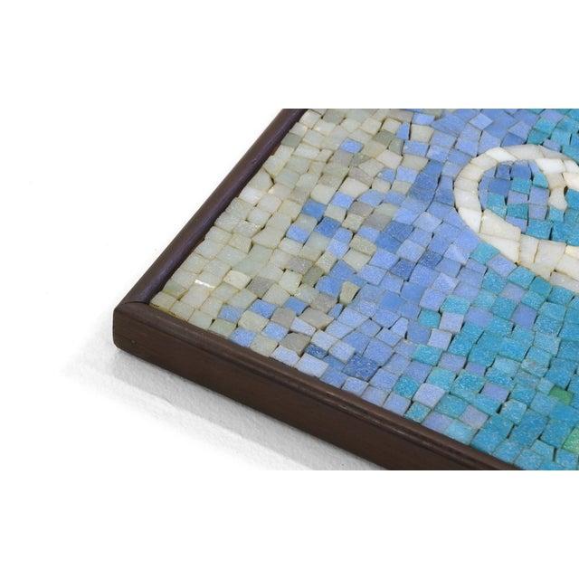 Rare Evelyn Ackerman Mosaic Tile Wall Hanging, Grecian Long Boat Scene - Image 2 of 8