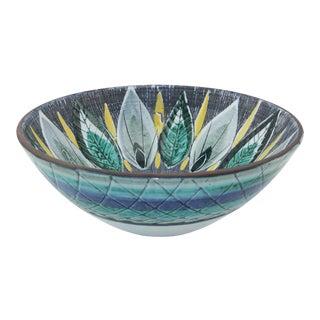Scandinavian Art Pottery Bowl by Tilgmans Keramik, 1950's For Sale