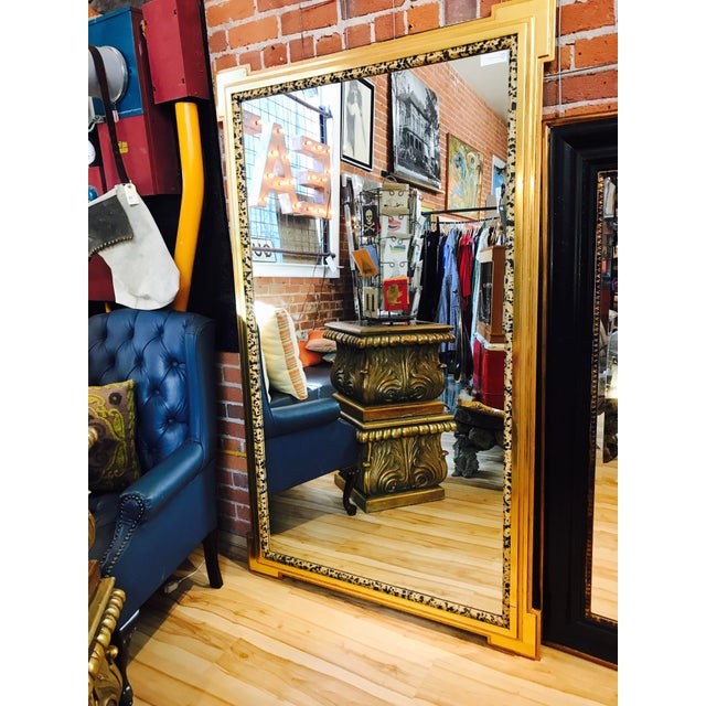 Deco Inspired 1980s Gold & Tiger Print Wall Mirror - Image 3 of 9