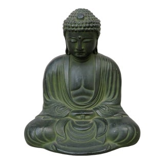 Vintage Chinese Metal Buddha For Sale