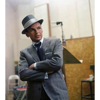 Sid Avery Frank Sinatra Capitol Records Recording Session 1954 Photo Print For Sale
