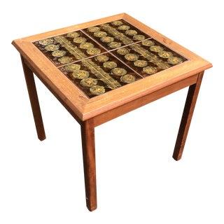 1960s Danish Modern Mobelfabrikken Tile Top Table For Sale