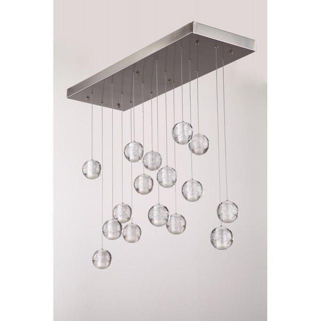 Contemporary Modern Meteor Shower Chandelier For Sale - Image 3 of 11