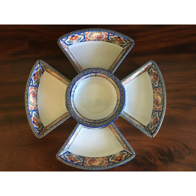 Japanese Ceramic Appetizer Serving Set of 5 For Sale - Image 12 of 13
