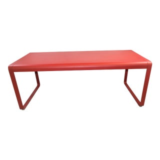 Fermob Bellevie 77'' Wide Aluminum Rectangular Dining Table Showroom Sample For Sale