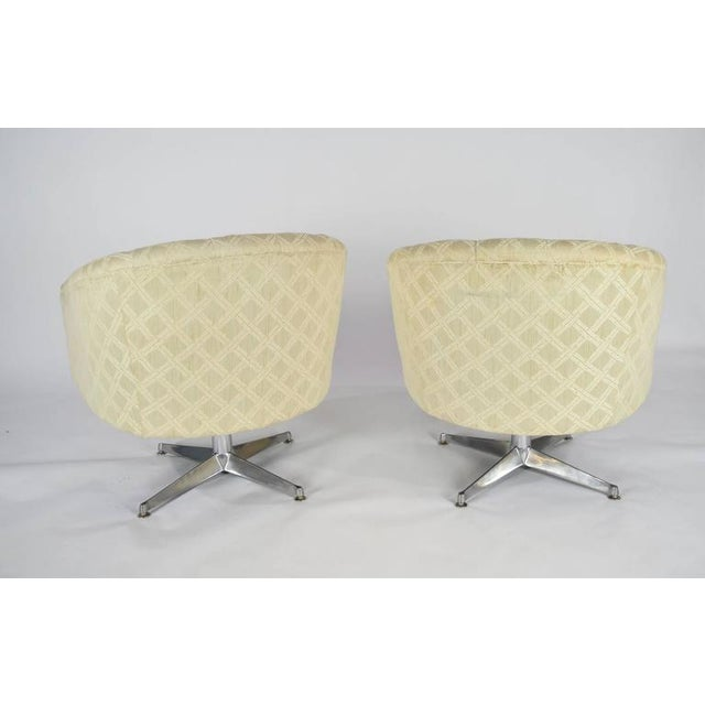 Mid-Century Modern Ward Bennett Swivel Lounge or Club Chairs - A Pair For Sale - Image 3 of 6