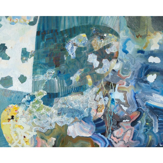 """Urso Contemporary Abstract Painting """"Perfect Storm"""" For Sale In West Palm - Image 6 of 6"""
