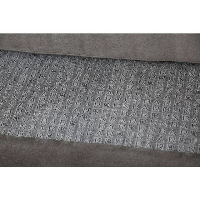 Wood Edward Wormley for Dunbar Bracket Back Sofa in Mohair For Sale - Image 7 of 8