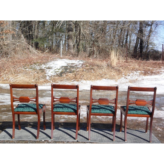 Drexel Antique Federal style Drexel Travis Court Mahogany Sabre Leg Dining  Chairs - Set of 4 - Antique Federal Style Drexel Travis Court Mahogany Sabre Leg Dining