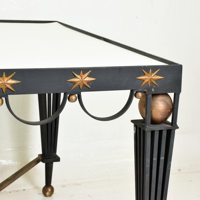 Mid Century French Modernist Star Dining Table After Gilbert Poillerat For Sale In San Diego - Image 6 of 10
