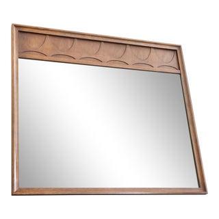 Mid-Century Modern Broyhill Brasilia Walnut Mirror For Sale