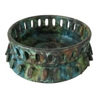 1960s Mid-Century Bitossi Sea Garden Glazed Pottery Ashtray. For Sale