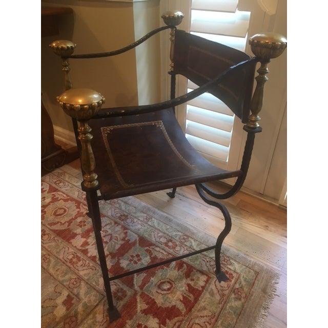 Antique Italian Savonarola Chair - Image 4 of 8