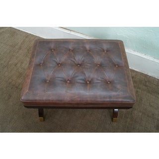 Quality Regency Directoire Style Tufted Leather Bench Preview