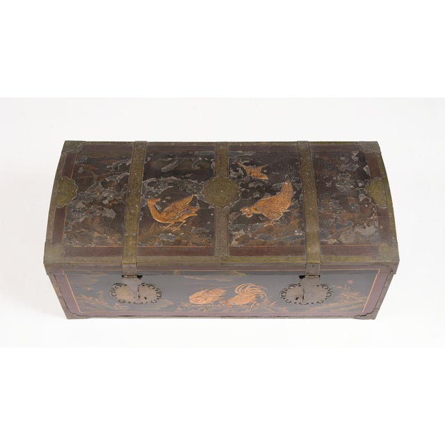 Mid 19th Century Spanish Chinoiserie Trunk For Sale - Image 4 of 13
