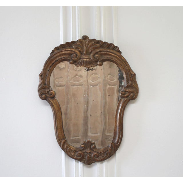 Wood 19th Century Italian Giltwood Mirror For Sale - Image 7 of 7