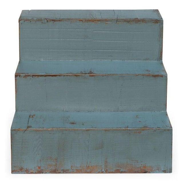 Sarreid Ltd Pale Blue Step Side Table - Image 3 of 5