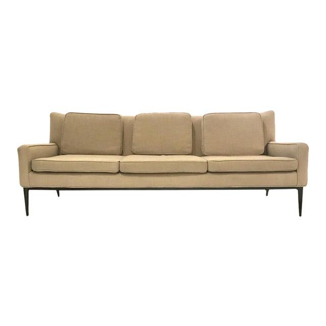 "Sleek Paul McCobb Sofa Model 1307 for Directional in ""Oatmeal"" Upholstery For Sale"