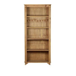 Reclaimed Pine Wood Honey Bookcase