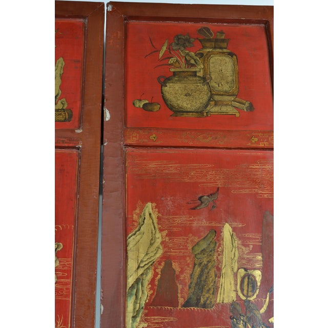 19th Century Chinoiserie Screen For Sale - Image 4 of 9