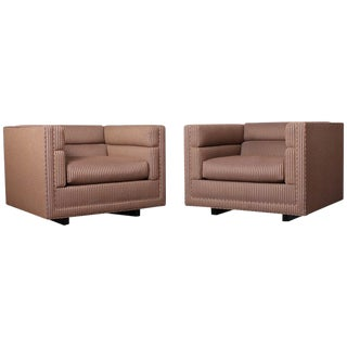 Pair of Club Chairs by Dunbar For Sale