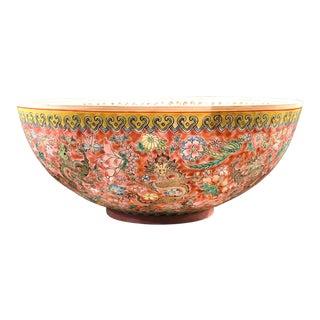Chinese 'Nine-Dragons' Eggshell Porcelain Bowl For Sale