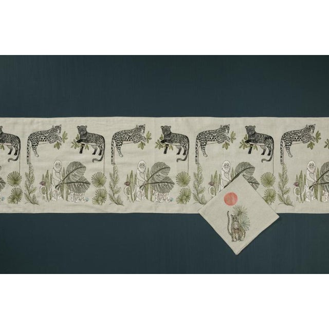 French Jungle Cheetahs Dinner Napkin For Sale - Image 3 of 6
