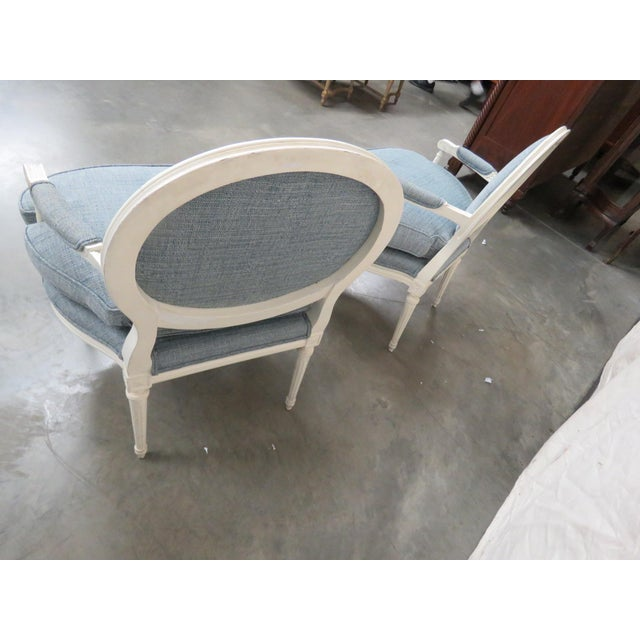 Wood Louis XVI Style Armchairs - a Pair For Sale - Image 7 of 9