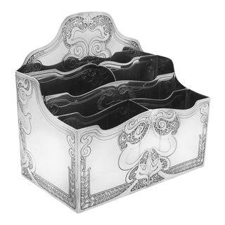 Tiffany & Co Art Nouveau Sterling Silver Letter Holder For Sale