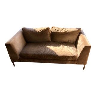 Abc Home Cobble Hill Carroll Gardens Greige Velvet 2 Seater Sofa
