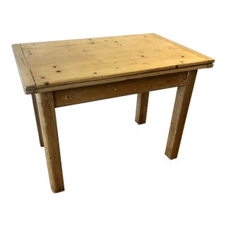 Antique English Pine Table For Sale