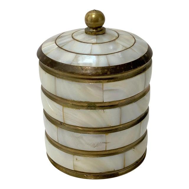 Vintage Trinket Box Mother-Of-Pearl For Sale