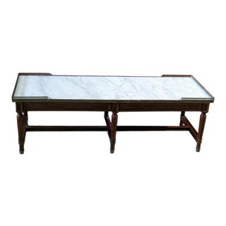 Directoire Style Marble Top Coffee Table For Sale