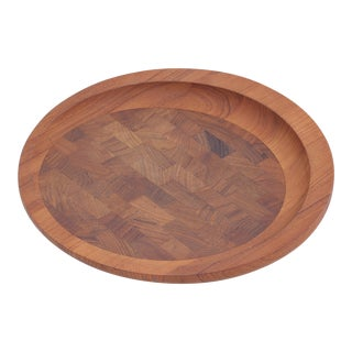 Round Teak Cutting Board by Jens Quistgaard For Sale
