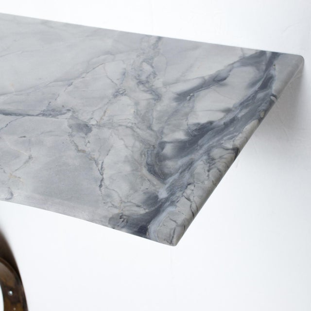 Neoclassical Mexican Modernist Iron-Marble Wall Console Attr. Arturo Pani For Sale - Image 9 of 10