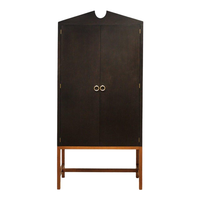 Tall Boy Cabinet in Black For Sale
