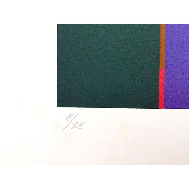 Abstract 1986 Vintage Mercedes Pardo Limited Edition Lithograph Print For Sale - Image 3 of 4