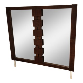 Lane Brutalist Console Mirror For Sale