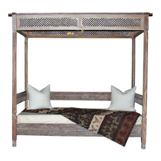 Moorish Carved Canopy Daybed
