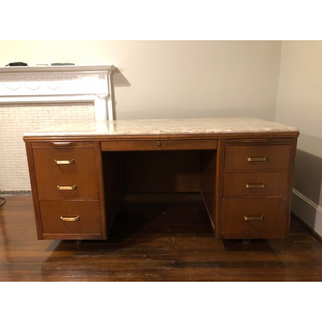 Leopold Mid-Century Executive Desk For Sale - Image 9 of 9