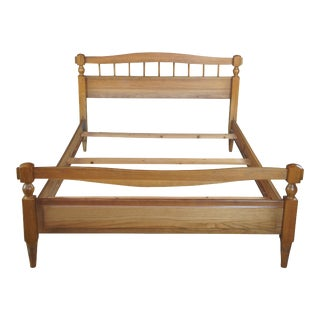 Vintage 1970s A. Brandt Oak Full Size Bedframe For Sale
